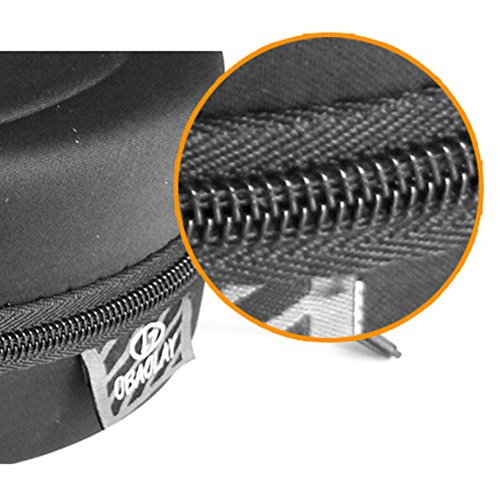 Negro de con Sol de Gafas para Sol Negro Cremallera portables AchidistviQ rígidas Gafas Negro 7Sgwfq5U