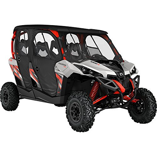 CAN-AM MAVERICK MAX RS 2014 & UP BLACK SOFT DOORS AND REAR PANEL #715003525 (Door Rs Panels)