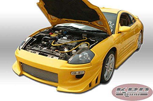 Mitsubishi Eclipse 2000-2005 Blits Style 4 Piece Polyurethane Full Body Kit manufactured by KBD Body Kits. Extremely Durable, Easy Installation, Guaranteed Fitment and Made in the USA! (Kit Full Body Urethane)