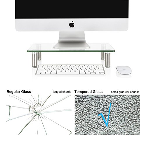 FITUEYES Clear Computer Monitor Riser Save Space Desktop Stand for Xbox One/component/flat Screen TV,DT103801GC by FITUEYES (Image #5)'
