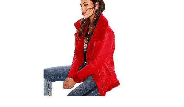 fd5f4cde657 VENCA Cazadora Corte Motero Mujer by Vencastyle - 017871, Rojo, S:  Amazon.es: Ropa y accesorios