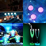 Submersible LED Lights with RF Remote Control Plus