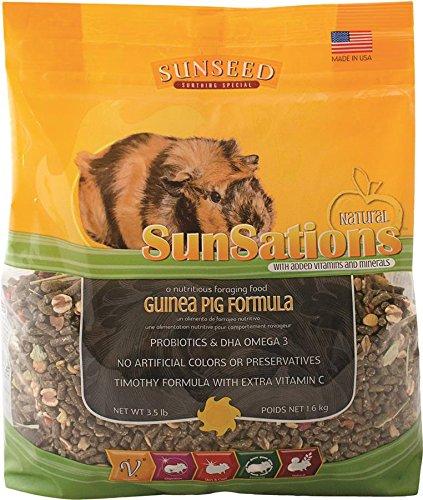 Sunseed Company 36057 Sensations Guinea Pig Food, 3.5 Lb
