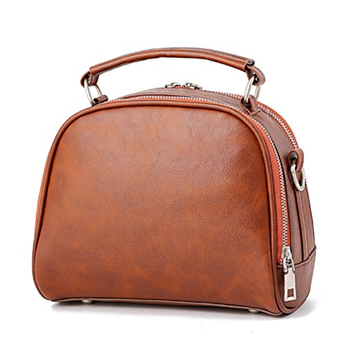 en Beau Yiiquan PU Simple Bags Style à Marron Main a Sacs Sac Bandoulière Design Cuir de Vintage qqUCTt