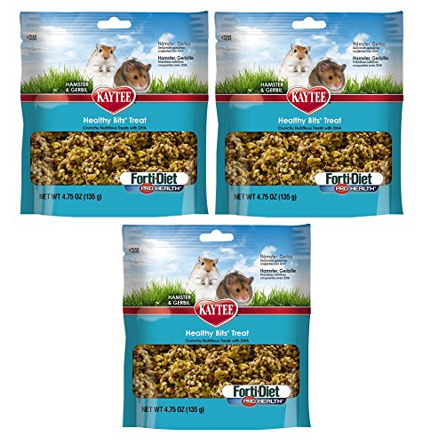 (3 Packages) Kaytee Forti Diet Pro Health Healthy Bit Treat for Hamsters/Gerbils, 4.75-Ounce