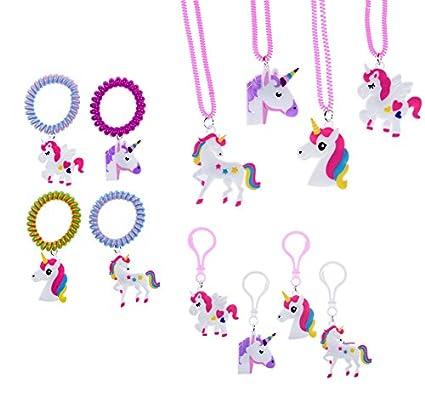 Amazon.com: Juego de 36 piezas de unicornio arcoíris para ...