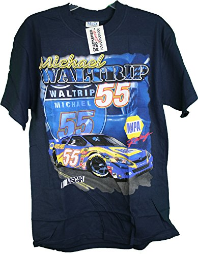 nascar-checkered-flag-napa-auto-parts-michael-waltrip-55-double-sided-tee-shirt-xl