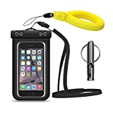 Yokoke Premium Quality Multifunction Outdoor Universal Waterproof Phone Case Suitable For Less Than Or Equal To 6 Inches Diagonal Smartphone Devices(Waterproof Case + Whistle + buoyancy wrist strap)