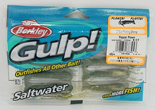 Gulp! Floating Shrimp Saltwater Fishing Bait, 2-Inch, Pepper ()