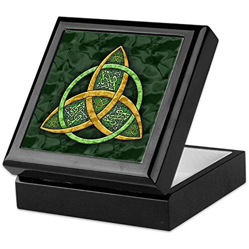 CafePress - Celtic Trinity Knot - Keepsake Box, Finished Hardwood Jewelry Box, Velvet Lined Memento Box
