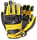 Damascus D90XB Extrication & Rescue Gloves w/ Hard Knuckles, Yellow, X-Large