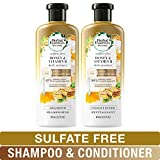 Herbal Essences Sulfate Free Shampoo and Conditioner Kit, BioRenew Honey & Vitamin B, Safe for Color Treated Hair 13.5 & 12.2 fl oz, Kit Herbal Essences