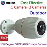2.1MP Sony CMOS 180 Degree Fish eye Lens Wide Angle HD-CVI /TVI/AHD/960H 1200TVL 4-in-1 HD 1080P Analog CCTV Camera Outdoor Water-proof Night Vision