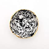 Black and White Marbled Ring Dish - Jewelry Dish - Polymer Clay Dish - Bridesmaid gift - Housewarming Gift