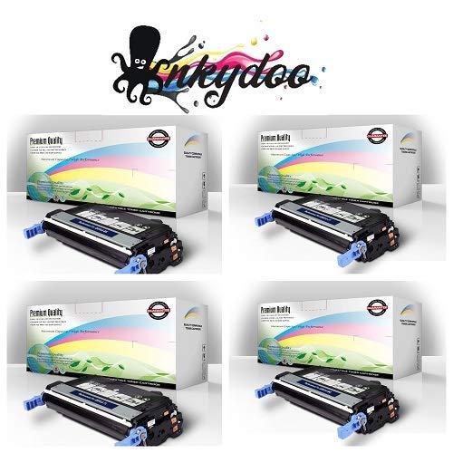(InkyDoo Replacement 4 Color Toner Set for HP Color LJ 4700,1 Ea of Premium Quality Replacements for Q5950A, Q5951A, Q5952A, Q5953A.)
