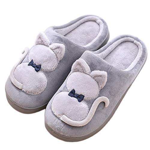 Intérieure 002 Mules Femme Chaussons Accueil Homme Slippers Pantoufles Hiver Doublure Jdxl Coton Douce Peluche Chaussures wxqY8nf6U