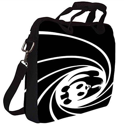 Snoogg Panda Kreis 2520 Gedruckt Notebook-Tasche mit Schultergurt 15 bis 15,6 Zoll