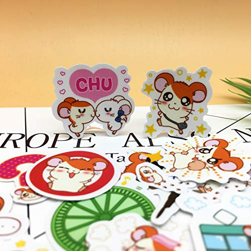 40pcs Exquisite Cute Little Hamster Self-Made Scrapbooking Decorative Sticker Decoration/Waterproof Paper Stickers (Colored Hamster Bottle)