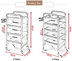 JYSEJ Aspirador uñas, Salon Tray Trolley Beauty Rolling Storage ...