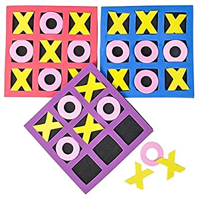 Rhode Island Novelty 5in by 5in Kids Foam Tic Tac Toe 1 Dozen: Toys & Games