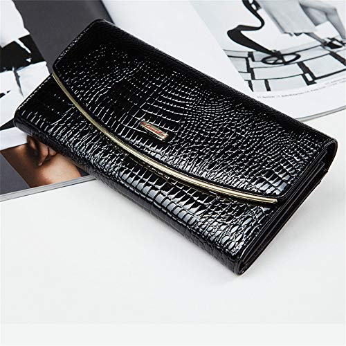 Real Women Leather Stylish rabbit Over Lovely Long Clutch For Flap Envelope Shape Purse aRUB4xqwp