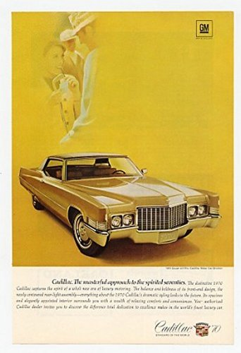Amazon com: 1970 Cadillac Coupe DeVille Spirited Seventies