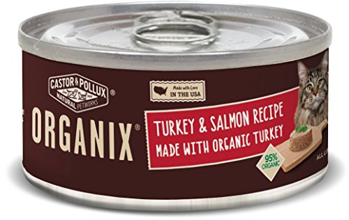 Castor & Pollux Organix Turkey And Salmon Adult Cat Food, 3 Ounce Cans (Pack Of 24)