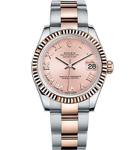 Rolex Lady Datejust 31 Steel Rose Gold watch Pink dial - Gold Watches Rolex Rose