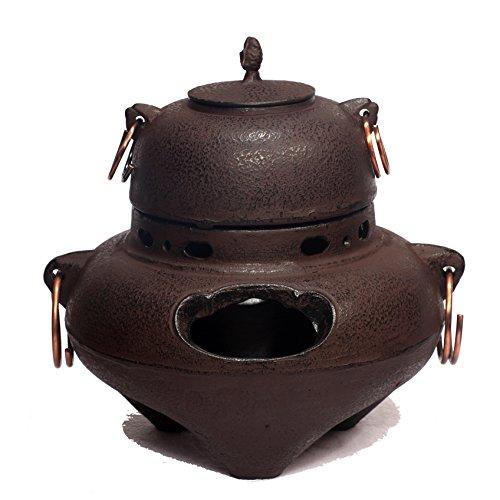 Kama ''Chagama'' Japanese ''Matcha'' Tea Ceremony Tetsubin Cast Iron Teapot 11.25'' Tall by The Spice Lab