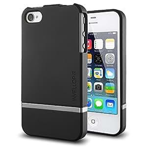 iPhone 4S case, INVELLOP Black [Slider Series] case for Apple iPhone 4 4S case bumper cover
