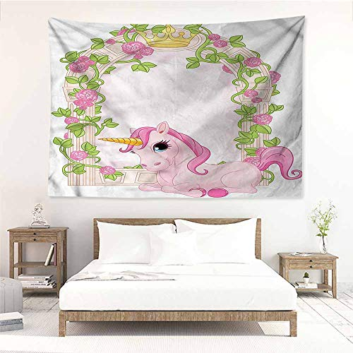 Sunnyhome Rectangular Tapestry,Teen Girls Romantic Floral Arch,Stylish Minimalist Fresh Style,W23x19L