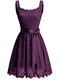 Womens Floral Lace Bridesmaid Dress Short Prom Cocktail Party Dress