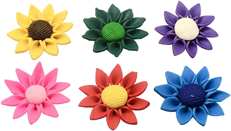10pcs 20mm Random Mixed Clay Flower Polymer Loose Spacer Beads Making Craft