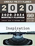 5 year monthly planner 2020-2024: 2020-2024 Monthly Planner Calendar | 5 Year Planner for 60 Months with internet record page | inspiration design