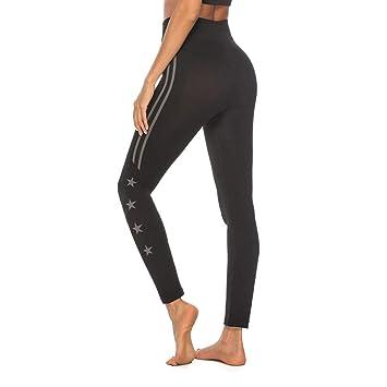 BYOGAZT @ Pantalones de Yoga Mujeres Entrenamiento Rayado ...