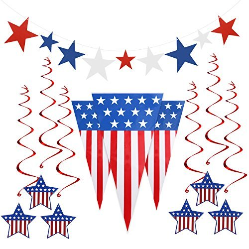 PBPBOX Fourth of July Decorations Patriotic Decoration Independence