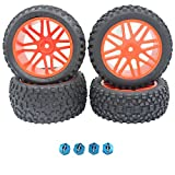rc tires and wheels - 4pcs Front & Rear Wheel Complete Tires Rim For RC Redcat 1/10 Buggy Shockwave Nitro Redcat Tornado S30 EPX (PRO) HSP Backwash Warhead Spare Part
