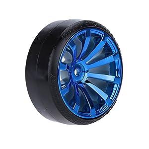 Walmeck 4Pcs/Set 1/10 Drift Car Tires Hard Tyre for Traxxas HSP Tamiya HPI Kyosho On-Road Drifting Car
