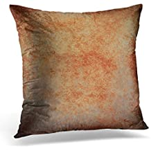 Breezat Throw Pillow Cover Abstract Brown Rust Color Stain Splash Messy Dirty Vintage Gray Neutral Old Rough Distressed Copper Decorative Pillow Case Home Decor Square 20x20 Inches Pillowcase