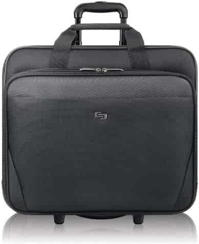 Solo Empire 17.3 Inch Rolling Laptop Case, Black