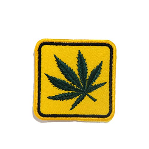 Cute Halloween Embroidery Designs (Marijuana Leaf DIY Embroidered Sew Iron on Patch)