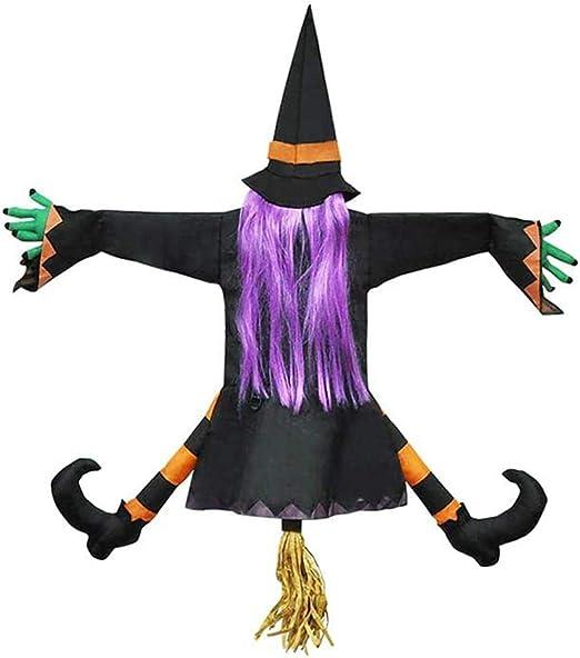 Hangende Hexe Halloween Deko Abgesturzte Hexe Fur Die Veranda Baum Dekoration Requisiten Abgesturzte Hexe Outdoor Halloween Dekoration Amazon De Kuche Haushalt