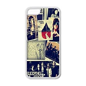 MEIMEICustom Popular Rock Band SWS Sleeping With Sirens Case for iphone 4/4s Rubber Cover Case-iphone 4/4sSWS118MEIMEI