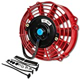 7 electric fan kit - 7 Inch High Performance Red Electric Radiator Cooling Fan Kit