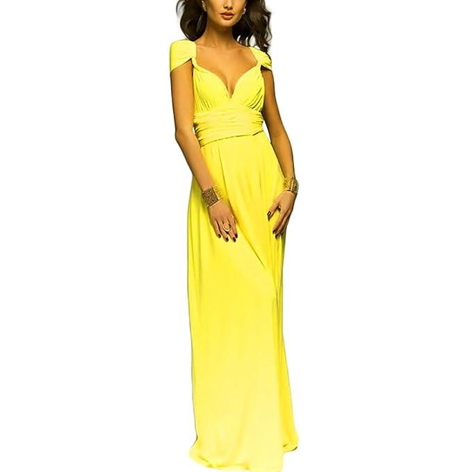 0d7990329 Lover-Beauty Vestido Largo Mujer para Noche y Fiesta Casual Algodón Ropa  Top Falda Espalada