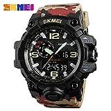 DEH SKMEI 1155 Camuflaje Color Hombres Reloj Deportivo Puntero Digital Reloj Impermeable - Camuflaje