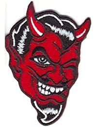 DEVIL FACE WINKING Embroidered Funny Motorcycle MC NEW Biker VEST PATCH PAT-0519