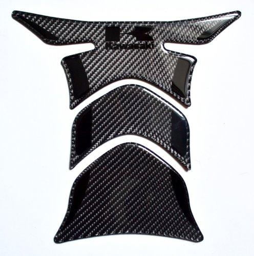 Kawasaki Stealth effect real Carbon Fiber tank Protector pad Decal Sticker trim (Tank Kawasaki)