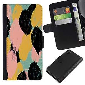 iBinBang / Flip Funda de Cuero Case Cover - Watercolor Animal Pattern Spots - Sony Xperia Z3 D6603 / D6633 / D6643 / D6653 / D6616