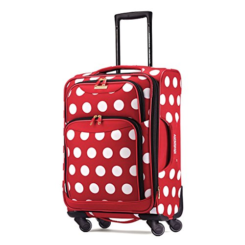Adult Polka Dot (American Tourister Disney Minnie Mouse Polka Dot Softside Spinner 21, Multi, One Size)